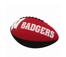 Wisconsin Badgers Logo Junior Size Rubber Football New
