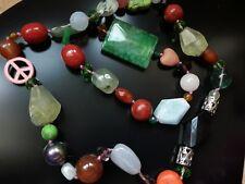 afa83868ef2f Collar piedras naturales semipreciosa unos 40cm collares gargantillas  bisuteria