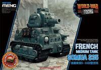Meng Model WWT-009 Somua S35 French Medium Tank World War Toons (Q Edition)