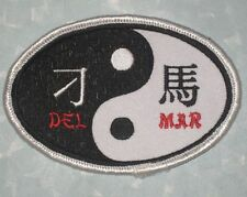 """DEL MAR Patch - Martial Arts - 3 7/8"""" x 2 5/8"""""""