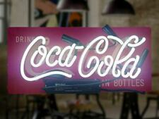 NEON Light Coca Cola Soda Drink Pepsi Cable Coin Bottle Poster decorate Sign
