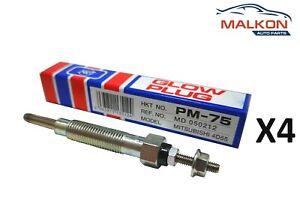 4 x HKT GLOW PLUGS FOR MITSUBISHI TRITON ME MF MG MH 2.5D 4D55 4D56 8V -95' PM75