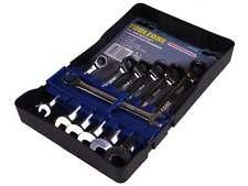 7Pc Trade Quality Ratchet Chrome Vanadium 72 Teeth Combination Spanner Set 8 - 1