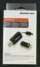 GOFR214 Iogear USB OTG Lector de Tarjetas para PC/Mac y Teléfono Android/Tablets