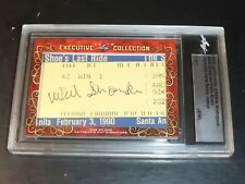 WILLIE SHOEMAKER~EDDIE ARCARO DOUBLE-SIDED CUT #D 1/1 AUTO SIGNED AUTOGRAPH