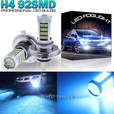 2X 92SMD Ice Blue H4 9003 HB2 LED Bulbs Fog Driving Light Daytime Running Lamp