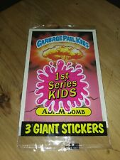 1986 TOPPS 1ST SERIES GARBAGE PAIL KIDS 3 GIANT STICKERS  SEALED