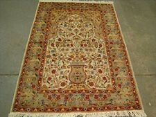 New Tree of Life Birds All Over Area Rugs Silk Wool Hand Knotted Carpet (6 x 4)'