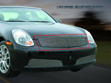 Fits 2005 2006 Infiniti G35 Sedan Billet Grille Main Upper Grill Insert Fedar