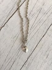 """Necklace with 18"""" Silver Tone Chain Jennifer Dahl Initial Y Tiny Heart Charm"""