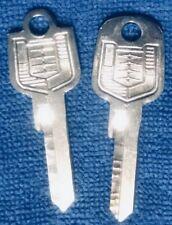 OEM MERCURY KEY BLANKS 1957-58 SET 1-Ign/Door & 1-Trunk/Gbox FORD Crest NOS