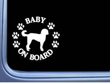 """Baby on Board Labradoodle L528 6"""" Sticker goldendoodle dog decal"""