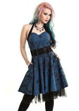 Vestiti da donna blu lunghezza al ginocchio senza maniche