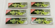 6 Packs JUICY JAY'S SUPERFINE Greenleaf 1 1/4 Rolling Papers Free Shipping