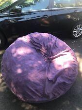 Big Joe Fuf Foam Filled Bean Bag Chair - Size XL, Black Onyx