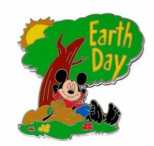 RARE LE 100 JUMBO Disney Pin✿Mickey Dog Pluto Earth Day Tree Summer Sun Rare Pal