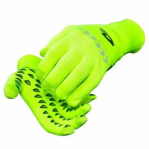 New DeFeet Duraglove ET Cycling Full Finger Gloves - Yellow / Black - Size Small