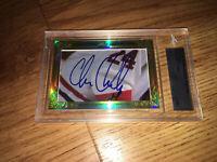 Chris Chelios 2015 Leaf Masterpiece Cut Signature autograph signed card 1/1 JSA