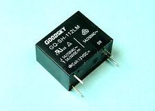 2pcs GoodSky 12V Relay, SPST, 5A 250VAC, 5A 30VDC, GQ-SH-112LM