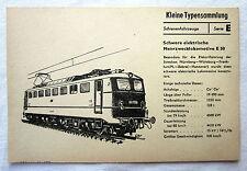 DDR Kleine Typensammlung Schienenfahrzeuge - Elektrische Mehrzwecklokomotive E50