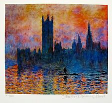 "CLAUDE MONET ""HOUSES OF PARLIAMENT"" Estate Signed Limited Edition Small Giclee"