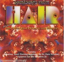 THE WEST END PLAYERS AND SINGERS - Highlights From Hair (UK 13 Tk CD Album)