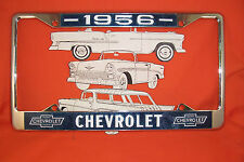 1956 Chevy Chrome License Plate Frame Belair Sedan Hardtop Wagon Nomad Convertib
