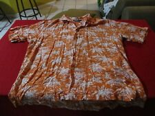 Ralph Lauren Polo Caldwell Rayon Short Sleeve Hawaiian Button shirt size Mens L