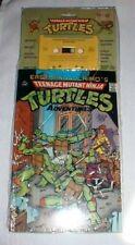 TEENAGE MUTANT NINJA TURTLES - COMIC BOOK & CASSETTE TAPE - 1989 - NRFP