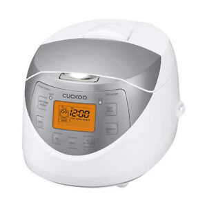 Cuckoo CR-0632F Electric Rice Cooker 6 Cups Programmable Multifunctional Silver