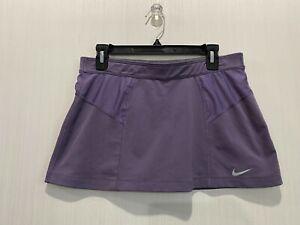 Nike Tennis Skort Skirt Womens M Active Shorts Swoosh Mesh Elastic Waist Ladies