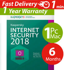 Kaspersky internet security 2018  ( 1 ) Pc-mac-android ( 6 ) Months  Worldwide