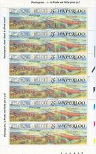 Belgium - 1990 Battle of Waterloo - Mi. 2484 Mnh, Sheet Of 12 Stamps