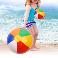 24 Inches Beach Balls Rainbow Inflatable 6 Panel Summer Pool Party Beach Toys