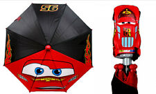 CARS LIGHTNING MCQUEEN 95 World Grand Prix Molded Handle UMBRELLA Rain Sun Snow