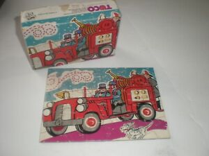 Vintage Tuco Fire Truck Puzzle 30 Extra Large Tripl-Thick Pieces Complete