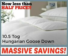 10.5 Tog Hungarian Goose Down Duvet *HIGHEST QUALITY* 100% Cotton Percale Cover