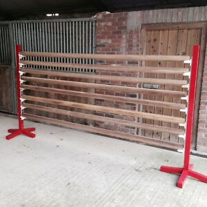 Hardwood Octagonal Show Jump Poles 3m (unpainted)