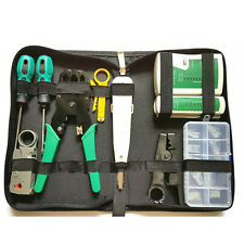 Network Ethernet LAN Kit RJ45 Cat5e Cat6 Cable Tester Crimper Crimping Equipment