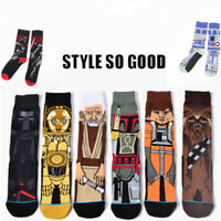 New Fashion Winter Warm Mens Cotton Novelty STAR WARS Crew Skateboard Long Socks