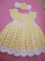 Size 3-6 Handmade in USA Crochet baby girl Dress Headband byRocky Mountain Marty