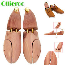 1 Pair Tube Shoe Tree Cedar Wood Adjustable Shoe Shaper US Size 8-9