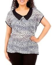 Career Animal Print Plus Size Tops & Blouses for Women