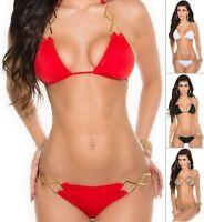 KouCla 2HOT2HANDLE Women's Top & Bottom Swimwear Swimsuit Bikini Set - S/M/L/XL