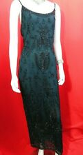 MONSOON TWILIGHT SEQUIN GREEN COCKTAIL MAXI DRESS 14 WEDDING/PARTY/CRUISE