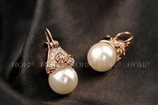 New Arrival Free Shipping Gold Plated Crown and Pearl Earrings Stud AU STOCK