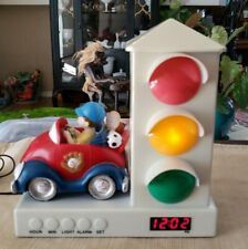Stoplight Sleep Enhancing Alarm Clock for Kids, Red and Blue Sports Car E6