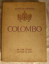 COLOMBO Città di Genova 1931 Documenti e prove della sua appartenenza a Genova
