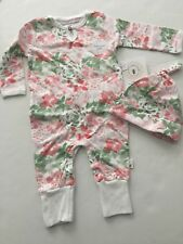 f5a21db004a Burt s Bees Baby Organic Succulent Flowers Ruffled Coverall   Hat Set 12  Months