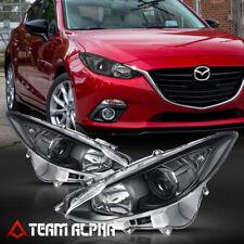 Fits 2014 2017 Mazda 3 Mazda3 Blackclear Crystal Corner Projector Headlight Fits Mazda 3